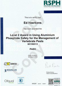 Level 2 Award Aluminium Phosphide