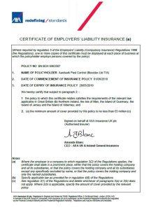 Insurance & Certificates - Aardvark Pest Control